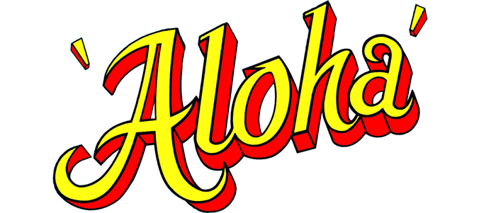 aloha-red-and-yellow-text-graphic