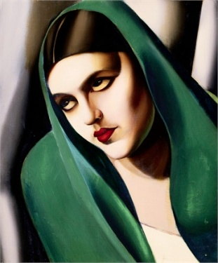 ca. 1930s --- The Green Veil by Tamara de Lempicka --- Image by © Christie's Images/Corbis